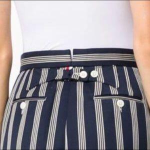 NWT THOM BROWNE High Waist 4Bar Repp Stripe Shorts